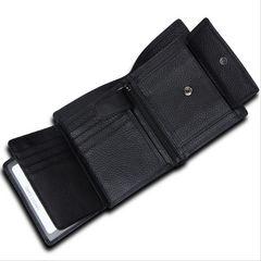 多機能 本牛革 二つ折り財布 小銭入有 カード入10枚 札入