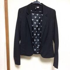 H&M エイチアンドエム ショート丈 テーラードジャケット 黒 ブラック 34