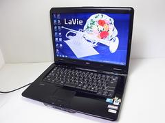 直ぐ使えるNEC ブラックメタリック LaVie デュアルコア 320GB