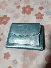 ミニ財布 パーティー/結婚式 アイスブルー 折り畳み 小バッグ