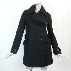 ≪新品♪9号≫黒のウール混のコート(849