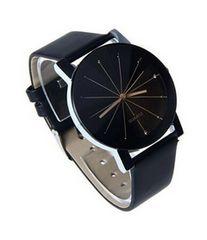 今回限り500円★腕時計 レザーバンド 黒 初期不良保証