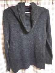 ★Sureve オシャレデザイン セーター  ブラック サイズM 暖か●
