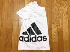 R79M■新品★アディダス adidas ビッグロゴ Tシャツ 白M■
