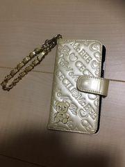 used☆CECIL McBEE☆ロゴクマ携帯カバー☆