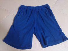 130 UNIQLO 青 短パンツ