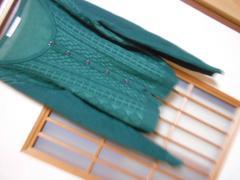 マジェスティックレゴン*薄手長袖ミドリカーデ美品☆クリックポスト164円