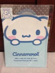 シナモロール未使用インデックス付きクリアファイル☆サンリオ
