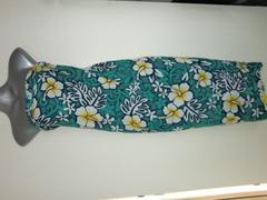 新品ハワイ購入南国お花柄ハイビスカスパレオリゾートエメラルド