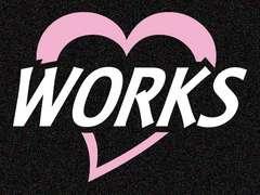 ハート車名ステッカー「WORKS」