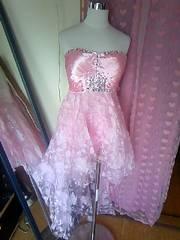 loverichキラキラビジュ盛り花柄オーガンジーのハイロウドレス新品