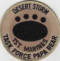 第一海兵師団 TASK FORCE PAPA BEAR パッチ