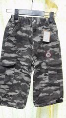 新品■120cm■ドクロ迷彩パンツ