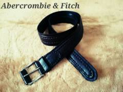 【Abercrombie&Fitch】Vintage レザーステッチベルト 32/D.Brown
