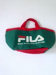 FILA フィラ◆ロゴ 大きめ トートバッグ ランチバッグにも♪