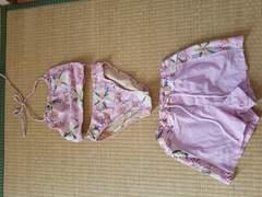 ピンクの水着3点セット L