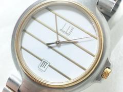 dunhillダンヒル/K18&SS定価20万円位ラージフェイスメンズ腕時計お勧め