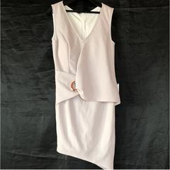 ◆上質厚手◆新品タグ付きバングル◆アシメラウンジミニドレス◆