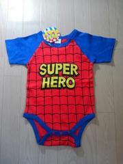 ●スーパーヒーロー!ロンパース● 80 新品