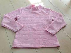ピンク  フリース ハイネック  130サイズ