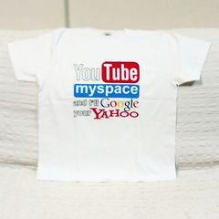 YouTube★おもしろジョークTシャツ★Lサイズ★ホワイト★白★