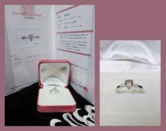■中央宝石研究所鑑別書付■カラー(透明黄褐色)ダイヤリング