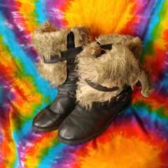 モバオクで買える「愛用品ッッ♪使用感がいっぱい♪クタクタなブーツ(*´ω`」の画像です。価格は1円になります。