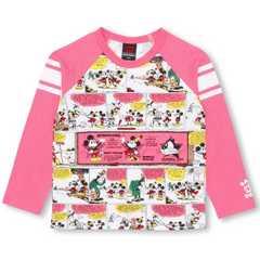 新品BABYDOLL☆110 ミッキー コミック柄 ロンT ピンク 長袖Tシャツ ベビードール