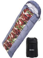 寝袋 冬用 -10度 コンパクト 軽量 封筒型 シュラフ 迷彩