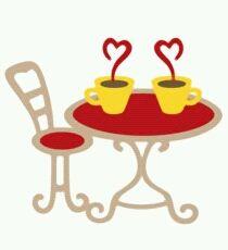 テーブル&チェア/ハートの湯気のティーカップセット☆人気★