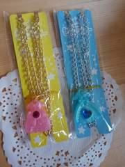 未使用♪カバヤ セボンスターのネックレス(ドレス2色セット�A)女の子用アクセサリー