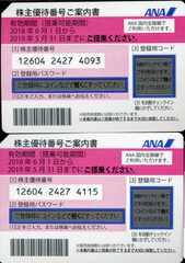 ANA 全日空 株主優待券 2枚セット