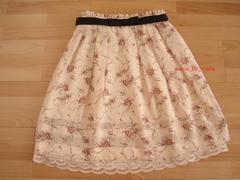 美品7号レッセパッセ【ミルクティ】2wayスカート