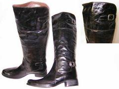 サヴァサヴァcavacava本革ジョッキーブーツ16919BL22.5cm