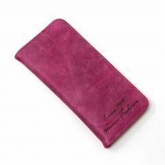 超薄型 ヌバックレザー風 長財布 ローズレッド 1/B47