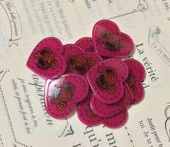 ラメハート型 ピンク 10個