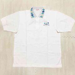 【NEW】鹿の子ベーシック ポロシャツ/renoma/白×青/L/スポーツ