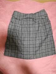 OlivedesOliveグレンチェックウエストリボンコクーンスカート