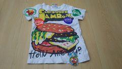 JAM ジャム ハンバーガーケチャップパロディTシャツ 120