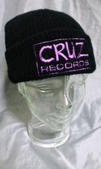 CRUZ RECORDS ワッチキャップ ニットキャップ 未使用品デッドストック 90s
