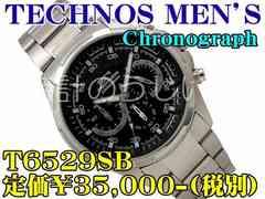 TECHNOS MEN'S Chronograph T6529SB 定価¥35,000-(税別)