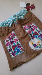 新品未使用!VanaVanaグランドスラム刺繍 パッチワークスカート