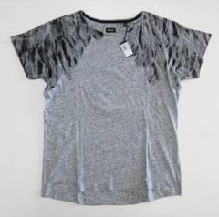 メンズ ディーゼル バックプリント Tシャツ グレー M