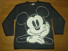 ¶COX COMBO/Disney[ディズニー]★ミッキーマウス・ニット/セーター メンズS~M相当