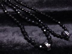 人気出てます!!ステンレスラインリング×ダイヤカットオニキスネックレス!!ペア価格