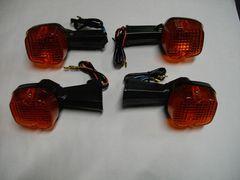 (955O)CB250NCB400NCB400Dホーク�V高品質ウインカーオレンジレンズ