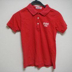 SASSON サッソン 150cm 半袖 ポロシャツ 赤