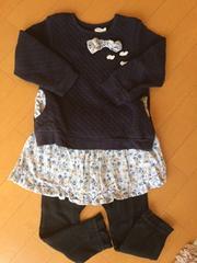 キムラタン.ビケット.レギンス付きスカート.花柄.幼稚園.保育園
