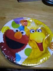 エルモ、イエローバードの紙皿
