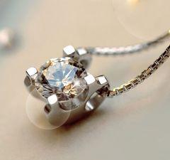 新品1円〜★送料無料★ 1ct ボックス型ダイヤモンドAAAジルコニア ペンダントCZ